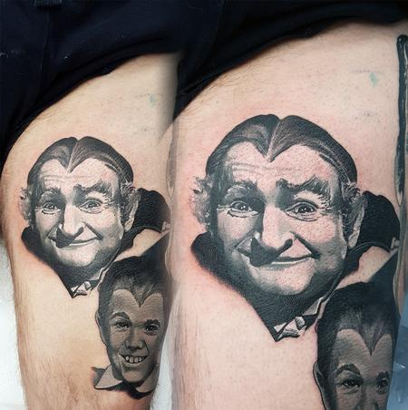 Tattoos - Small Grandpa Munster Portrait - 133761