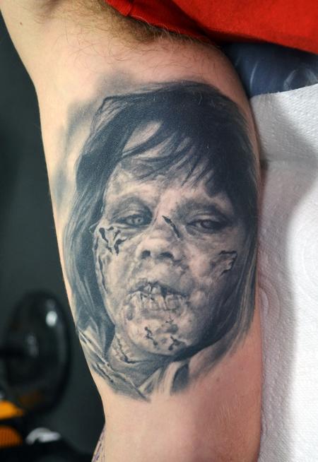 Tattoos - Healed Exorcist Portrait Tattoo - 120643