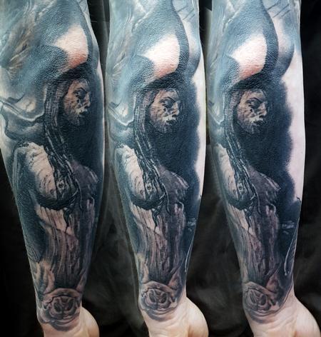 Tattoos - Healed Vampire Girl - 125653
