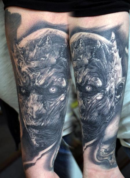Tattoos - Healed Night King Game Of Thrones Portrait Tattoo - 126261