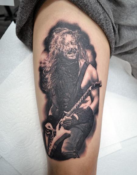 Alan Aldred - James Hetfield Metallica Portrait