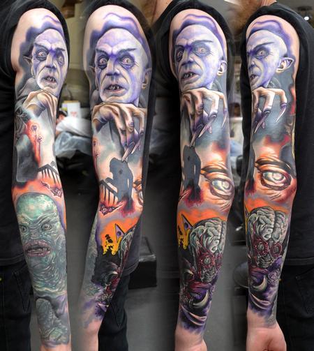 Tattoos - Horror Sleeve Tattoo - 113869