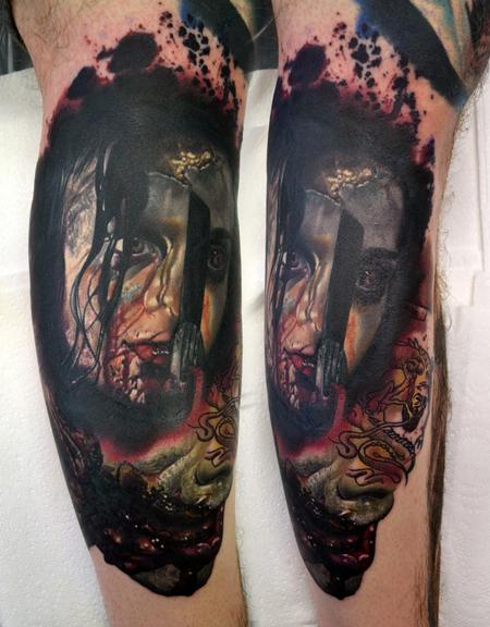 Tattoos - HEALED Mia Evil Dead Portrait, Continuation. - 114362