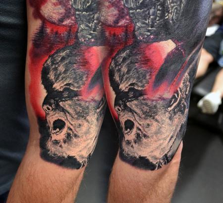 Tattoos - Miniature Wolf Man Portrait - 116685
