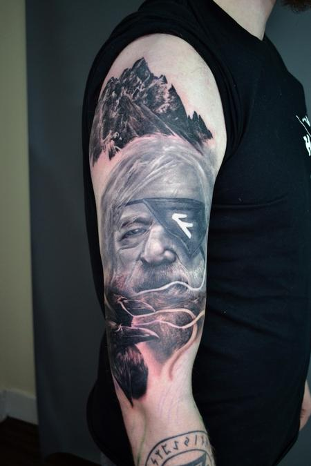 Tattoos - Odin - Norse Mythology Sleeve - 142123