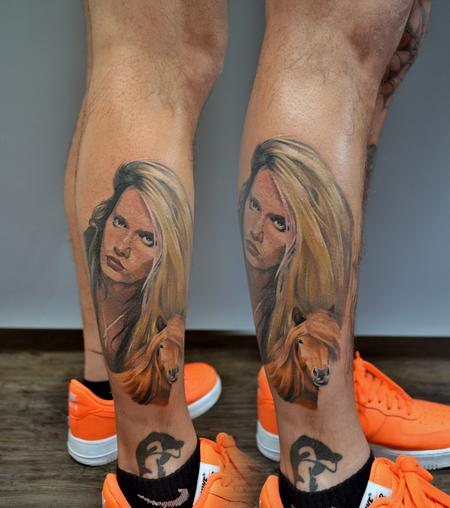 Tattoos - Sebastian Bach Portrait Tattoo - 139761