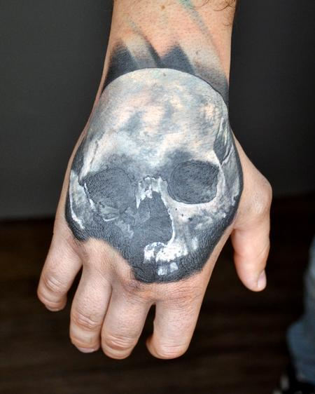 Tattoos - Skull Hand Tattoo - 135014