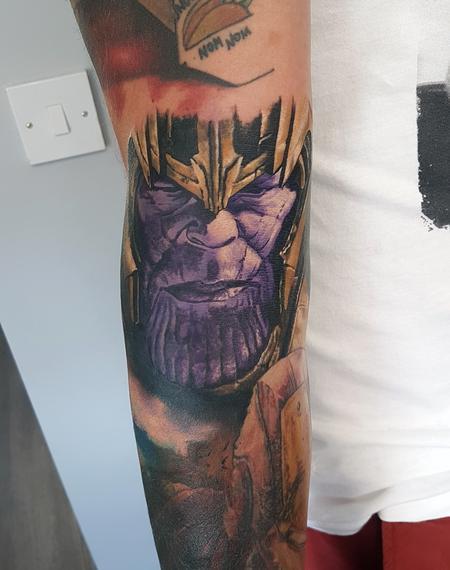 Tattoos - Thanos Inside Elbow Portrait - 134208