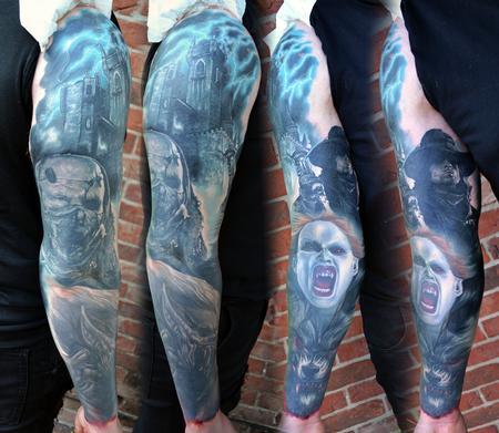 Tattoos - Van Helsing Sleeve Tattoo - 119613