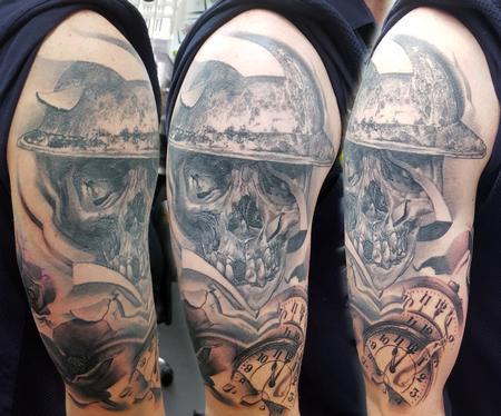 Tattoos - War Memorial Half Sleeve Tattoo - 121915