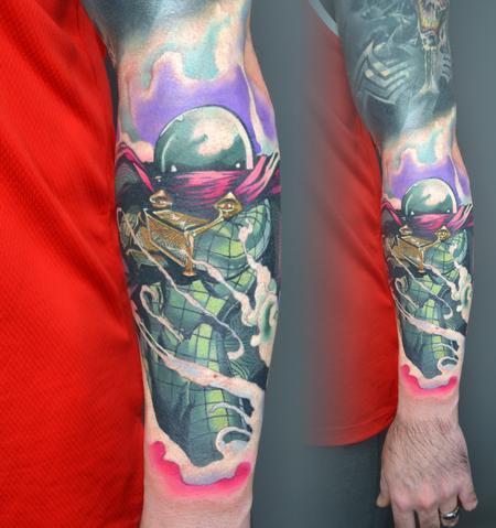 Alan Aldred - Mysterio Spiderman Tattoo
