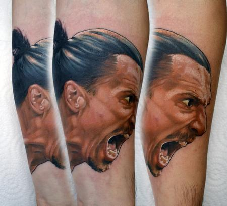 Tattoos - Zlatan Ibrahimovic Portrait Tattoo - 129109