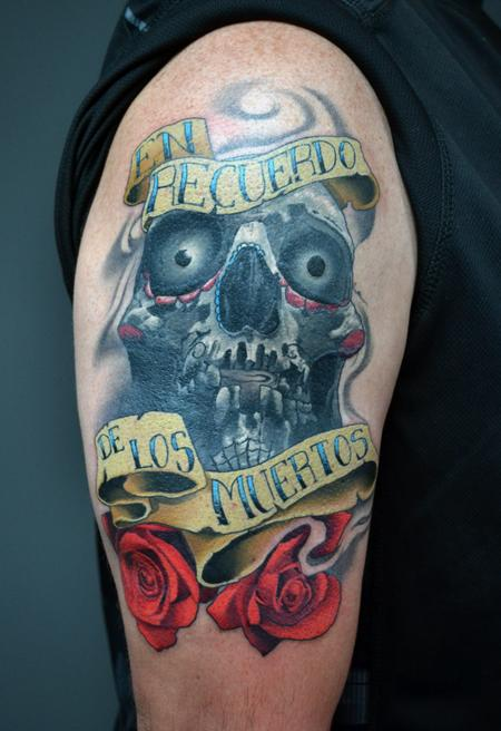 Alan Aldred - Day of The Dead Rememberance Tattoo