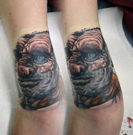 Tattoos - Hogel Portrait, Labrynth Tattoo - 111410