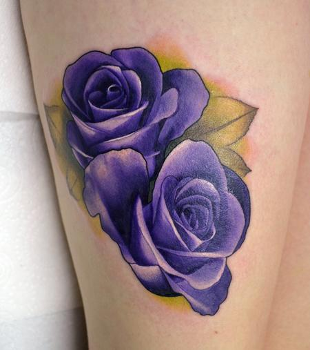 Alan Aldred - Realistic Purple Roses