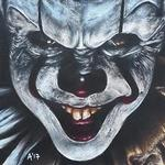 Tattoos - Pennywise Colour Pencil Portrait - 129656