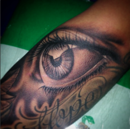 Tattoos - Black and Grey Eyeball - 104724