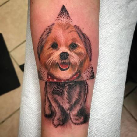 Tattoos - Adorable puppy portrait - 128583