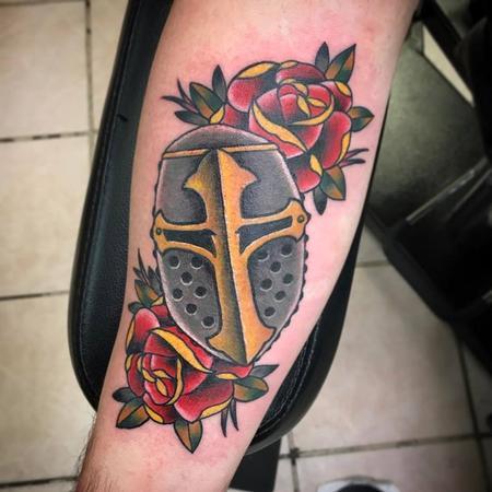 Tattoos - Mask/ roses - 128590