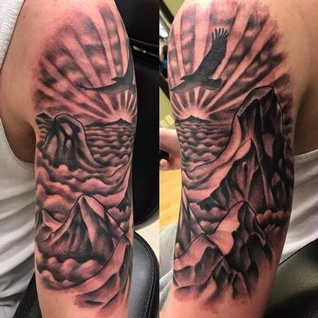 Tattoos - Sky/ mountains - 128592