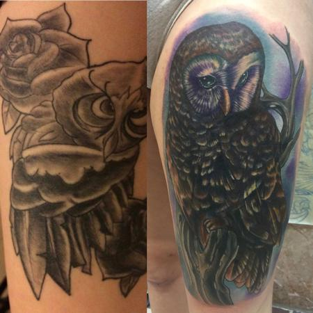 Tattoos - Owl cover up - 125799