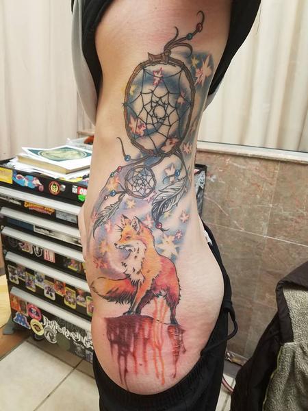 Tattoos - Fox and Dream catcher - 125099