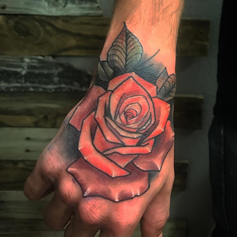 Rose Hand By Billy Gale Tattoonow