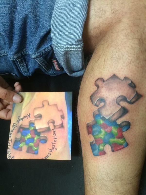 Puzzle Pieces For Autism By Jon Morrison Tattoonow