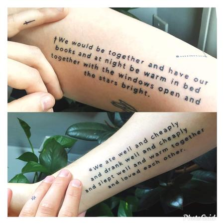 Tattoos - Lettering footnote quote tattoo - 142016