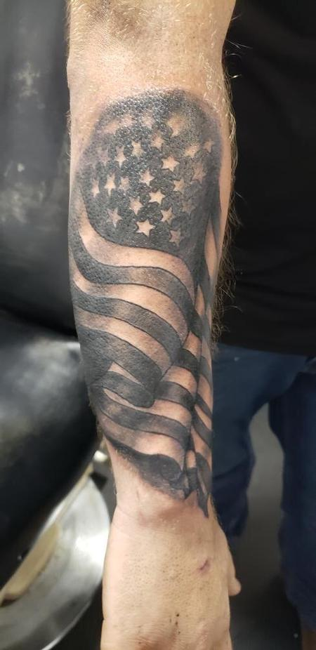 Tattoos - American flag tattoo - 140509
