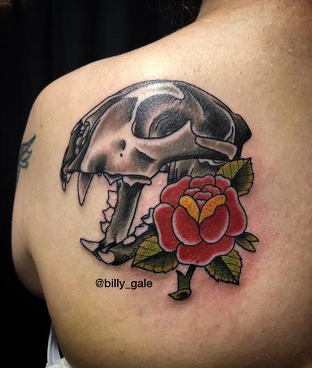 Tattoos - Panther Skull & Rose tattoo - 132529