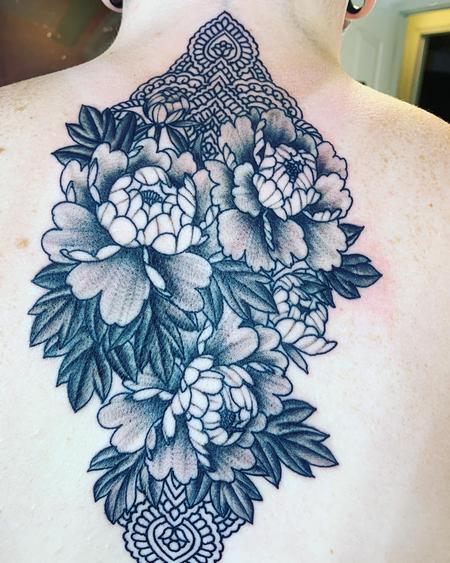 Tattoos - Peony's and mandala - 142063