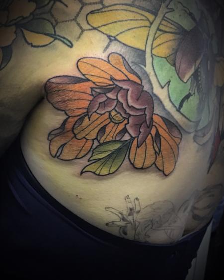 Tattoos - Neo traditional peony - 140898