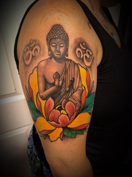 Tattoos - Buddha and peony - 134062