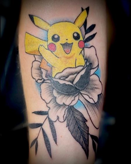 Tattoos - Pikachiu flower fusion  - 143356