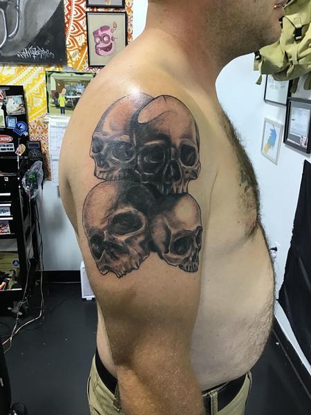 Blake Ohrt - Skull coverup