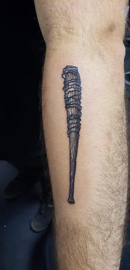 Tattoos - Bat with barbed wire/ Lucille bat - 141319