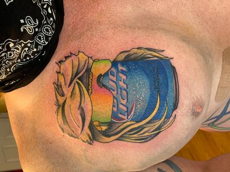 Tattoos - Bud light with mullet - 142286
