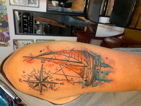 bubba underwood - Watercolor sailboat