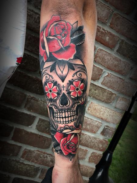 Tattoos - Sugar skull and rose - 134061