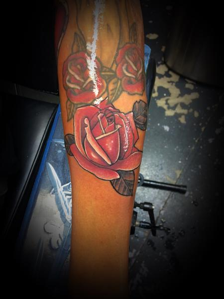 Tattoos - Red Rose - 140595