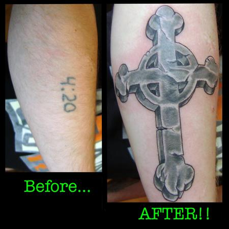 Tattoos - Cross Cover Up - 140994