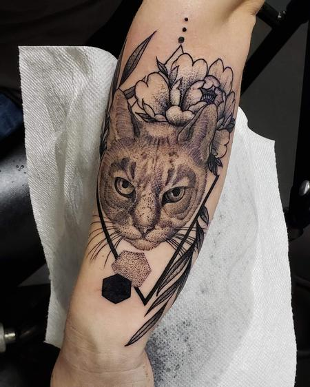 Tattoos - Pet cat portait - 141324