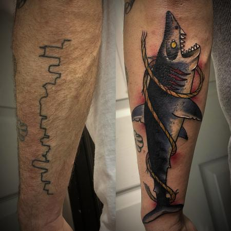 Tattoos - Shark cover up - 133922