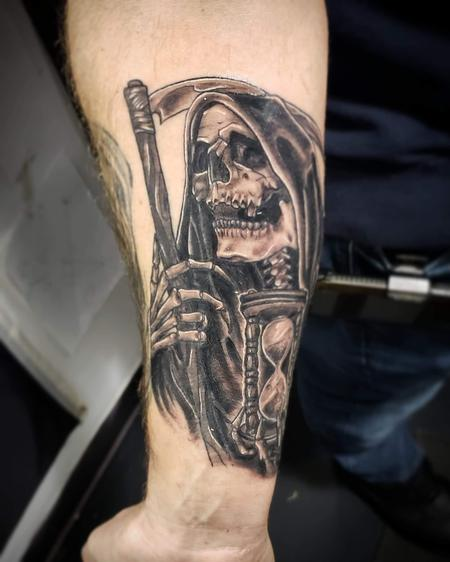 Blake Ohrt - Grimm reaper tattoo