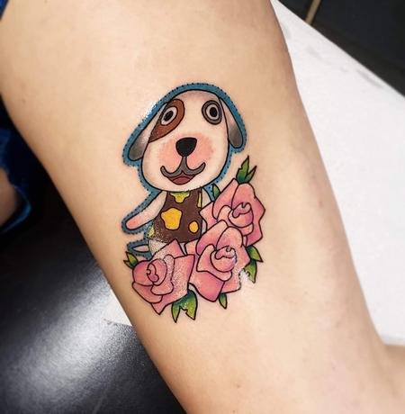 Tattoos - Animal crossing dog tattoo - 141330