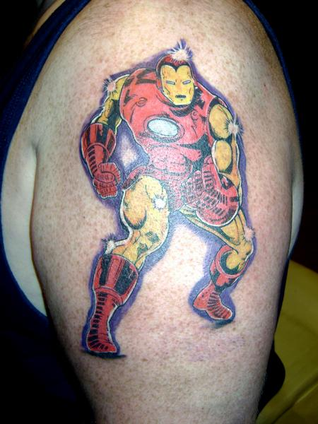 Tattoos - Ironman Comic Cover - 141000