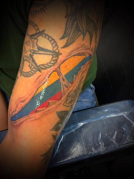 Tattoos - Skin Rip Flag Gap Filler - 139409