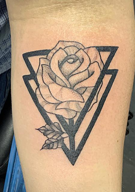 Tattoos - Stylistic rose - 138473