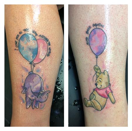 Tattoos - Water color Winnie the Pooh  - 140141